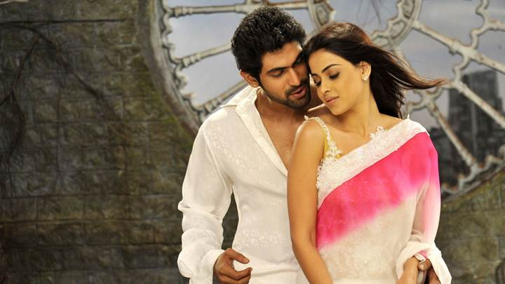 Genelia D'Souza With Rana Daggubati In White Dress In  Naa Ishtam